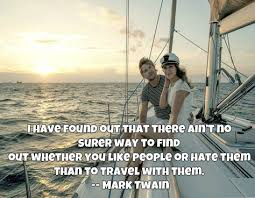 couple on a yatch travel quotes make you smile travel