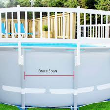 Garden Decors Depot Ecoopts 32 X 37 Vinyl Ground Pool Fence Panel Screen Gate Level Top Guard Above Swimming Pool Safety Fencing Products White Pool Fence Pvc Fence And Gate