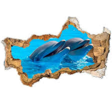 Shop 3d Fish In Hole Wall Sticker Nautical Overstock 32225716