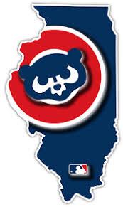 Chicago Cubs Illinois State Baseball Retro Logo Vinyl Sticker Decal Cornhole Car Ebay