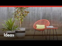 D I Y Corrugated Iron Feature Wall D I Y At Bunnings Youtube