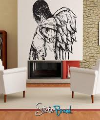 Vinyl Wall Decal Sticker Angels And Demons Drawing 773 Stickerbrand