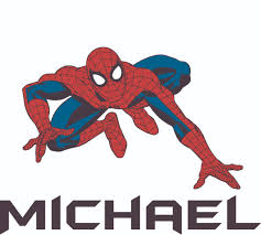 Spider Man Super Hero Spiders Web Customized Wall Decal Custom Vinyl Wall Art Personalized Name Baby Girls Boys Kids Bedroom Wall Decal Room Decor Wall Stickers Decoration Size 15x30