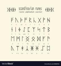 Rune Alphabet Occult Ancient Symbols Vector Image On Runy