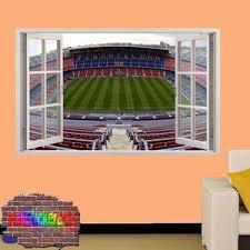 Barcelona Camp Nou Football Stadium 3d Smashed Wall Sticker Mural Room Wallstickerarts