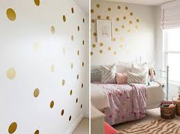 Gold Polka Dots Nursery Wall Decals Colorful Removable Sticky Dots Stickers For Decorating Kids Bedroom Nordicwallart Com
