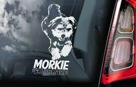 Morkie Car Sticker Yorkie Yorkshire Terrier Dog Window Sign Decal Gift Pet V01 Ebay