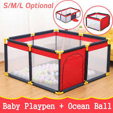 Super Deal B6ae3 Baby Playpen Fence Folding Safety Barrier For 0 6 Years Old Children Playpen Oxford Cloth Game Tent Barrier For Children Cicig Co