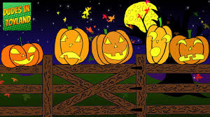 Five Little Pumpkins Sitting On A Gate Halloween Songs For Kids Cartoon Youtube Video Youtube