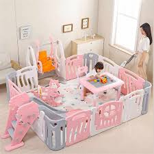 Kids Baby Fence Playground Indoor Family Amusement Park Baby Toddler Fence Safety Playpen For Baby Barriere De Securite Enfant Baby Playpens Aliexpress