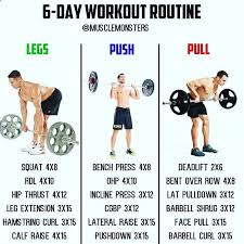 6 day muscle building workout by