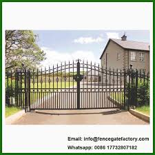 China Villa Driveway Wrought Iron Sliding Gate China Cast Aluminum Gate Steel Gate
