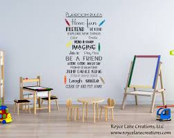 Playroom Wall Decals Quotes Vinyl Alphabet Best Design Cheap Large Rules Vamosrayos