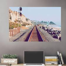 Train Tracks Beach Front Wall Decals Peel Stick Re Movable Wall Art Zapwalls