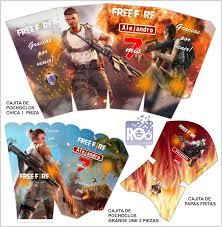 Kit Imprimible Free Fire Invitaciones Tarjeta Digital 150 00