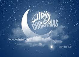 مرح نصف القمر الغيوم نجوم الليل السماء الثلوج الرنة لطيف الفينيل