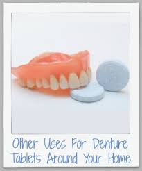 other uses for denture tablets for cleaning