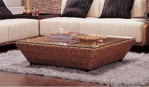 coffee table conservatory rattan