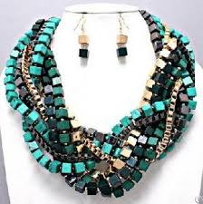 chunky chain necklace costume jewelry