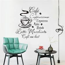 Coffee Kitchen Vinyl Wall Stickers Kitchen Coffee Shop Removable Wall Mural Decals Home Decor House Decoration Wall Art Buy At The Price Of 7 35 In Aliexpress Com Imall Com