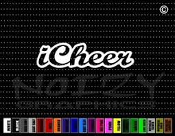 I Cheer Car Decal Window Vinyl Sticker Cheerleading Cheerleader Mom Family Bow Ebay
