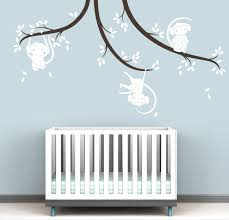 Monkey Tree Branches Wall Decal Pure Collection Littlelion Studio