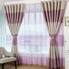 Lovely Polka Dot Insulated Polyester Purple Kids Room Curtains