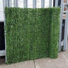 Artificial Faux Conifer Hedge Garden Fence Privacy Screening By True Products 3m Long