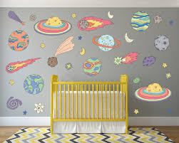Outer Space Kids Room Decor Outer Space Wall Decals Space Etsy