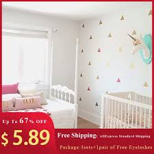 Baby Boy Room 3 Sets Triangles Wall Sticker For Kids Room Decorative Stickers Nursery Multiple Size Combination Wall Decoration Wall Stickers Aliexpress