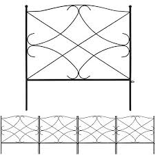 Amagabeli Galvanized Garden Fence 24inx10ft Outdoor Rustproof Metal Landscape Wire Fencing Folding Wire Patio Fences Flower Bed Animal Dogs Barrier Border Edge Section Edging Decor Picket Black Fc05 On Galleon Philippines