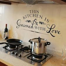 Kitchen Wall Decal This Kitchen Is Seasoned With Love Vinyl Etsy Kitchen Wall Decals Kitchen Design Decor Kitchen Wall Decor