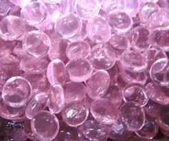 petal pink glass gems stones