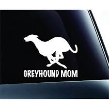 Amazon Com Expressdecor Greyhound Mom Dog Symbol Decal Funny Car Truck Sticker Window White Automotive