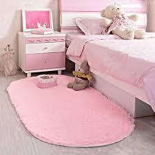 Area Rug Soft Kids Room Girls Mat Shaggy Pink Nursery Mat Home Play Room New Ebay