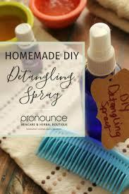diy detangling spray perfect for