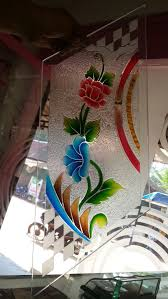 color and texture design on glass