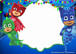 35 Pj Mask Birthday Invitation Template En 2020 Con Imagenes
