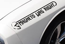 Buy 2x Pair Side Magneto Was Right Xavier Bad Mutant Comic Evil Car Vinyl Sticker Decal