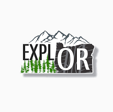 Amazon Com Oregon Decal Vinyl Explore Sticker Mountain Pine Trees Clothing