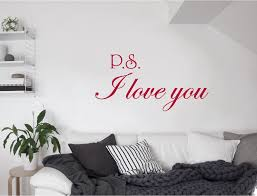 Ps I Love You Wall Sticker Love Wall Stickers I Love You Etsy Wall Stickers Love Love Wall Wall Stickers Living Room