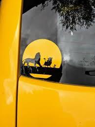 Disney S Lion King Inspired Simba Timon Pumbaa Silhouette With Sun Moon Vinyl Decal For Car Laptop Home Yeti And More Timon Disney Lion King Lion King