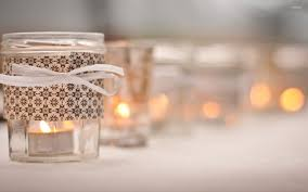 mason jar candle holders wallpaper