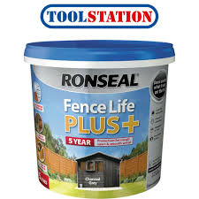 Ronseal Fence Life Plus 5l Charcoal Grey 5010214883943 Ebay