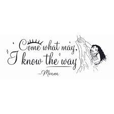 Vinyl Adhesive Moana Wall Art Decal Diy Stick And Peel Walt Disney Moana Movie Lettering Quotes