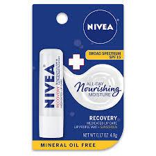 nivea lip care recovery cated lip