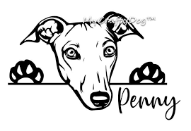 Peeking Greyhound Dog Car Decal Sticker Greyhound Dog Etsy In 2020 Grey Hound Dog Dog Car Car Decals Stickers