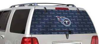 Amazon Com Fremont Die Tennessee Titans Full Logo Rear Auto Window Film Decal Graphics Sticker Football Sports Outdoors