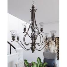 light shaded chandelier darby home