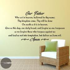 Our Father Lords Prayer Vinyl Wall Decal Sticker Religious God Etsy